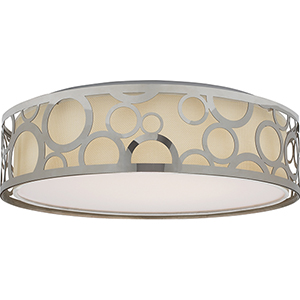 Filigree Polished Nickel Energy Star LED Flush Mount