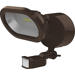 Bronze Energy Star LED Outdoor Single Head Security Light with Motion Sensor