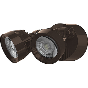 Bronze Energy Star Led Outdoor Dual Head Security Light