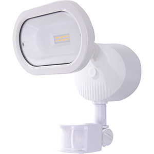 White Energy Star LED Outdoor Security Light with Motion Sensor 4000K