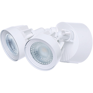 White Energy Star LED Outdoor Dual Head Security Light 4000K
