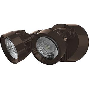 Bronze LED Outdoor Dual Head Security Light