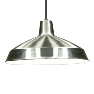 Brushed Nickel One-Light Dome Pendant with Warehouse Shade