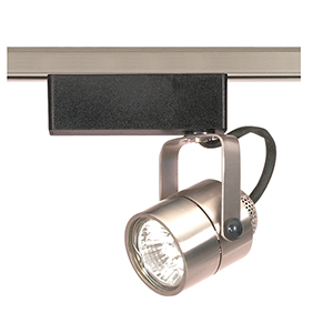 Brushed Nickel One-Light Round Track Head 12V