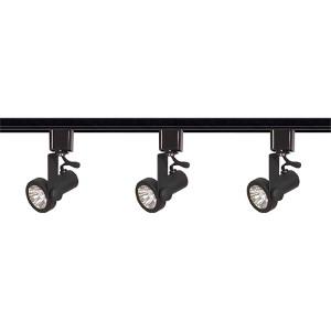 Black Three-Light Line Voltage Gimbal Ring Track Kit