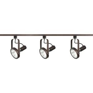 Russet Bronze Three-Light PAR30 Gimbal Ring Track Kit
