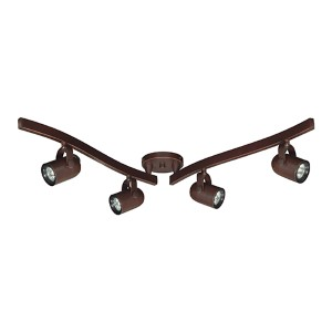 Russet Bronze Four-Light MR16 Halogen Swivel Track Kit