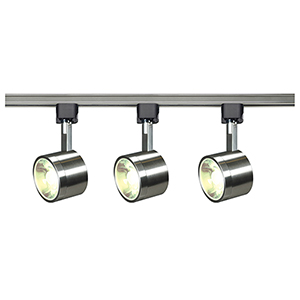 Brushed Nickel LED Round Track Lighting Kit 3000K 36 Degree