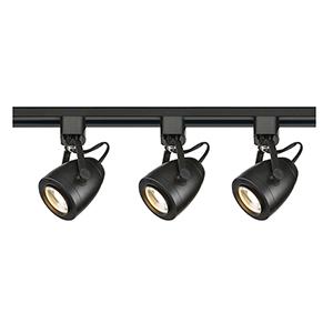 Black LED Pinch Back Shape Track Lighting Kit 3000K 36 Degree
