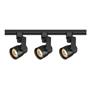 Black LED Round Shape with Angle Arm Track Lighting Kit 3000K 36 Degree