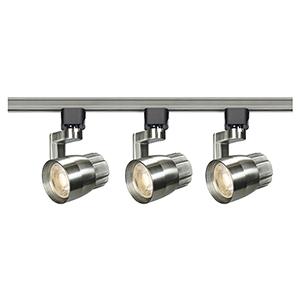 Brushed Nickel LED Round Shape with Angle Arm Track Lighting Kit 3000K 36 Degree