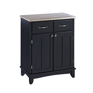 Black Buffet with Stainless Top