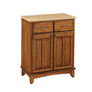 Cottage Oak Buffet with Natural Wood Top