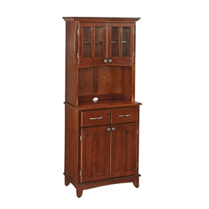 Cherry Buffet with Two Door Hutch and Cherry Wood Top