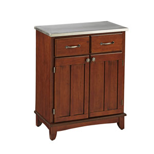 Cherry Buffet with Stainless Top
