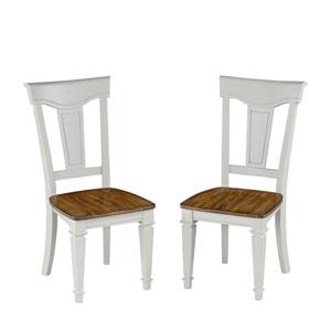 Americana White/Oak Dining Chair Pair