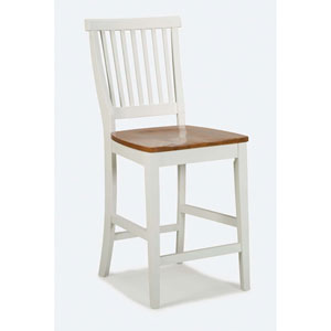 White/Oak Counter Stool