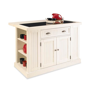 Nantucket Distressed White Kitchen Island