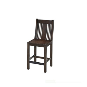 Prairie Black Oak Home Counter Stool