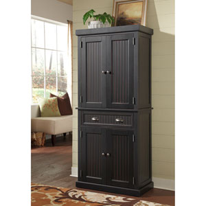 Nantucket Distressed Black Pantry