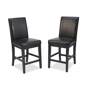 Nantucket Distressed Black Bar Stool