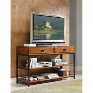 Modern Craftsman Oak Media Console