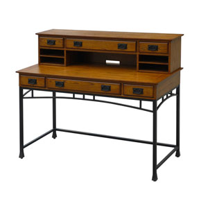 Modern Craftsman Executive Desk and Hutch