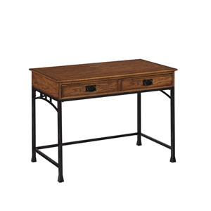 Modern Craftsman Distressed Oak Student Desk