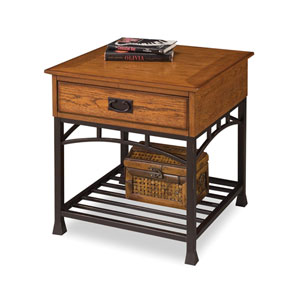 Modern Craftsman Oak End Table