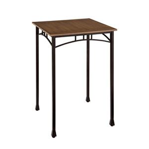 Modern Craftsman Oak and Brown Bistro Table