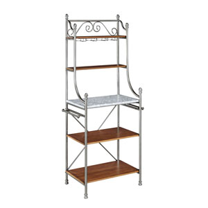 The Marble/Vintage Caramel Olreans Bakers Rack