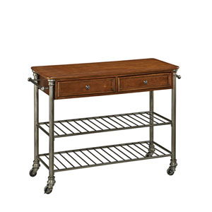 The Orleans Vintage Caramel Kitchen Cart
