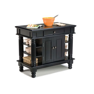 Americana Black Kitchen Island