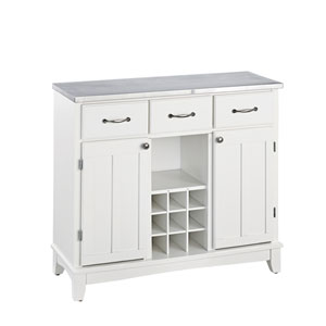 White Buffet with Stainless Top