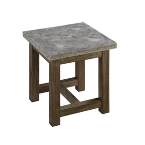 Concrete Brown and Gray Chic End Table