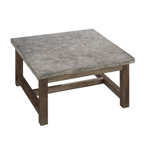 Concrete Chic Brown and Gray Square Coffee Table