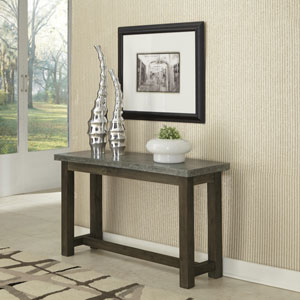 Concrete Chic Brown and Gray Console Table