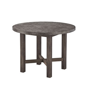 Concrete Chic Brown and Gray Round Dining Table