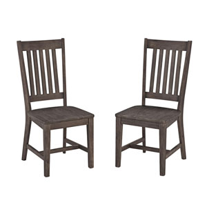 Concrete Chic Brown Indoor and Outdoor Dining Chair, Set of Two