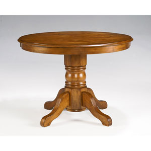 Attirant Cottage Oak Round Pedestal Dining Table