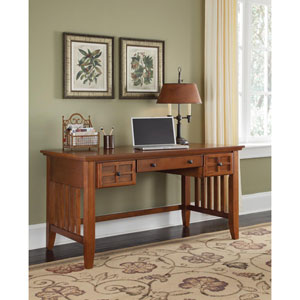 Arts and Crafts Cottage Oak Executive Desk