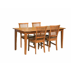 Arts and Crafts Five-Piece Dining Set