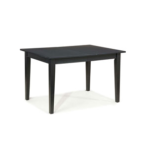 Arts and Crafts Rectangular Dining Table Black Finish