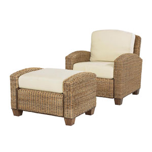 Cabana Banana Honey Chair and Ottoman Set