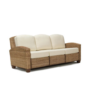 Cabana Banana Honey Oak Three-Seat Sofa