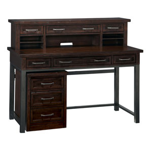Cabin Creek Executive Desk, Hutch, and Mobile File
