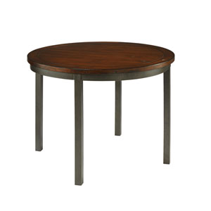 Cabin Creek Multi-Step Chestnut Round Dining Table