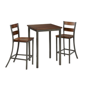 Cabin Creek Multi-Step Chestnut 3-Piece Bistro Table