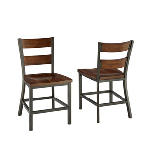 Cabin Creek Multi-Step Chestnut Dining Chair, Set of 2
