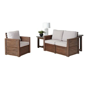 Barnside Aged Barnside Love Seat, Chair and End Table